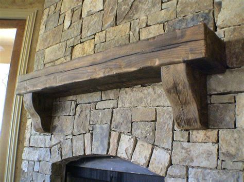 custom mantle perfect compliment rustic