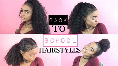 school hairstyles curly hair halssa youtube