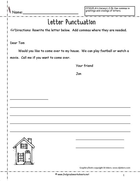 Parts Of The Letter Worksheets For Grade 2.html