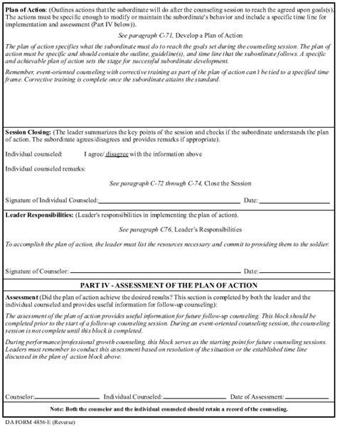 guidelines completing da form 4856 armystudyguide