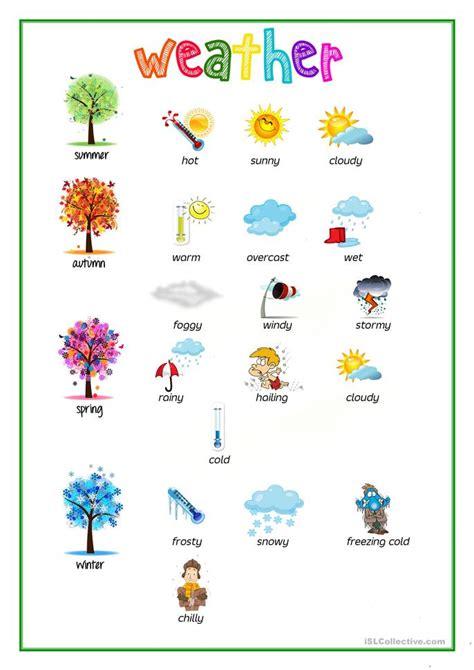 weather picture dictionary worksheet free esl printable worksheets
