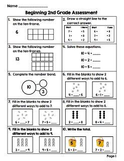 summer blogin math stations 2nd grade bts assessment