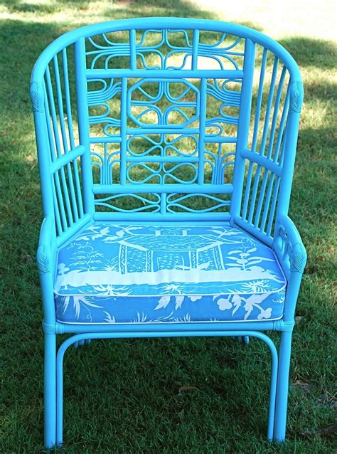 spray paint wicker bamboo furniture fun color paint