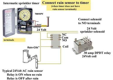 add rain sensor t8845pv sprinkler timer http waterheatertimer