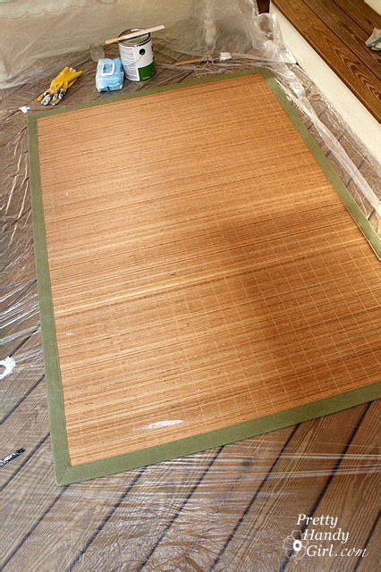 painting bamboo rug bamboo rug painted rug painted