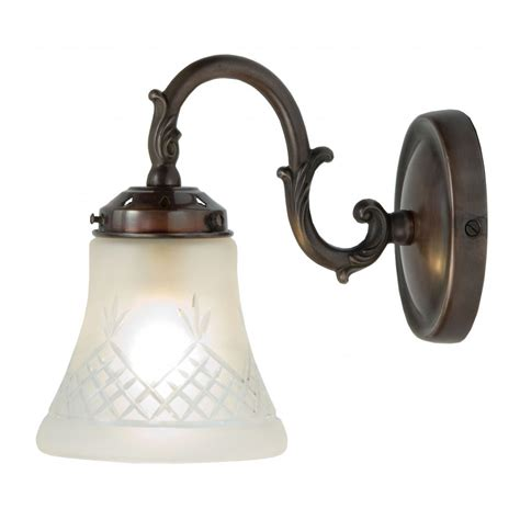 victorian singlw wall light antique fitting cut glass