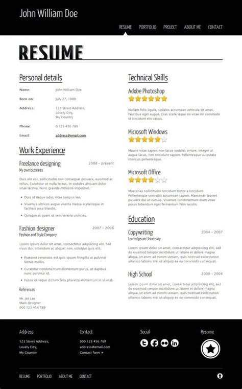 careera resume portfolio html template design website porfolio