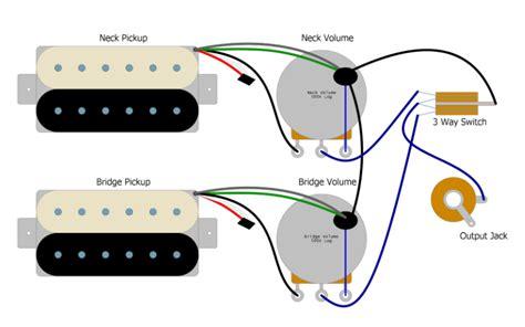 les paul switch wiring basic guitar electronics humbucker