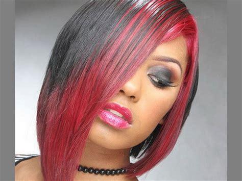 black pink hairstyles