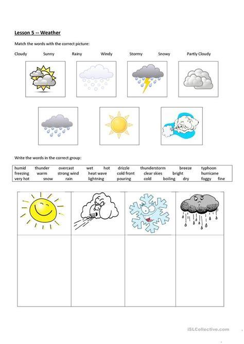 weather worksheet free esl printable worksheets teachers weather