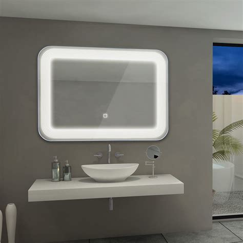costway led wall mount mirror bathroom vanity makeup