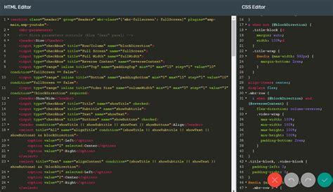 create website html css code editor