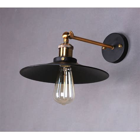 industrial retro wall light sconce chrome black