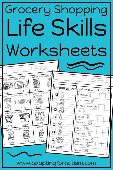 life skills worksheets perfect independent work stations special