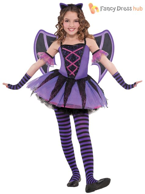 girls ballerina bat tutu halloween costume age 3