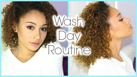 curly hair wash day routine cleaning conditioning detangling
