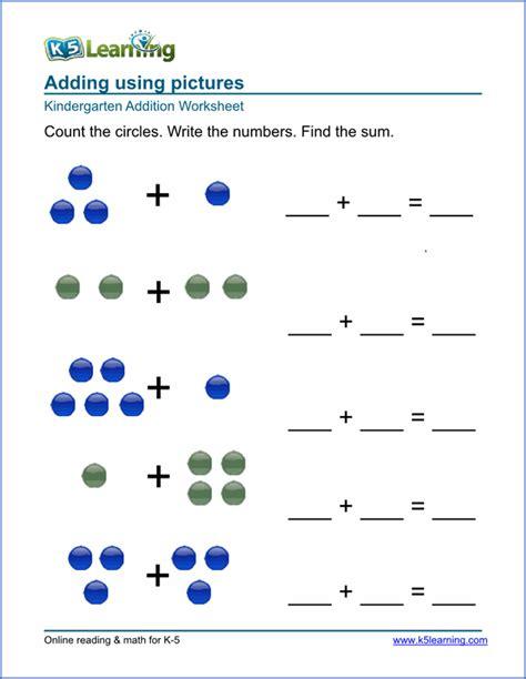 free preschool kindergarten simple math worksheets printable k5