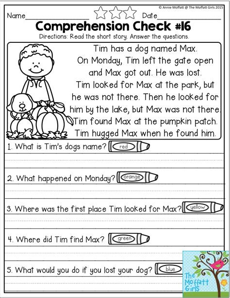 october fun filled learning resources reading comprehension worksheets