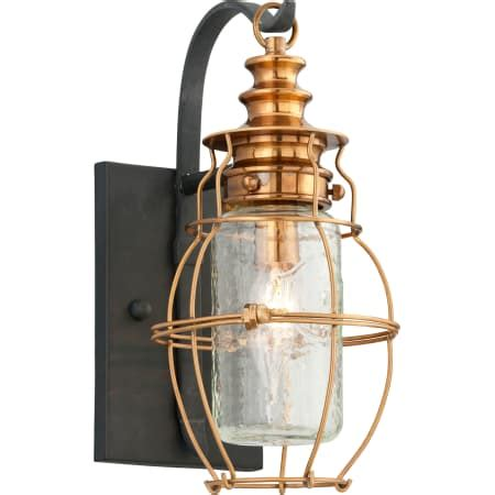 Troy Lighting B3571 Little Harbor 1 Light 13 Inch Aged Brass With Forged Black Accents Outdoor.html