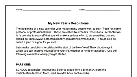 year resolutions 3 6 goal setting activity holiday