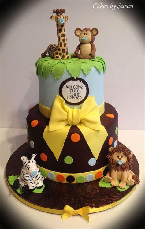jungle animals baby shower cake baby shower cakes