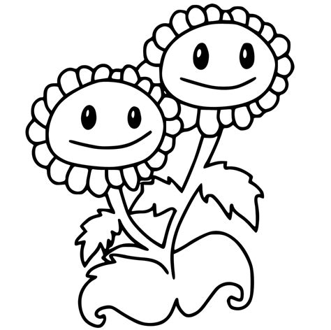 30 free printable plants zombies coloring pages