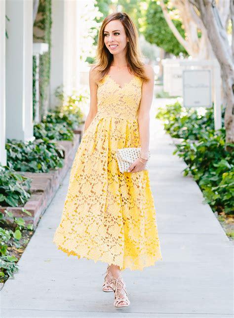 miranda kerr yellow lace dress celebrity fashion