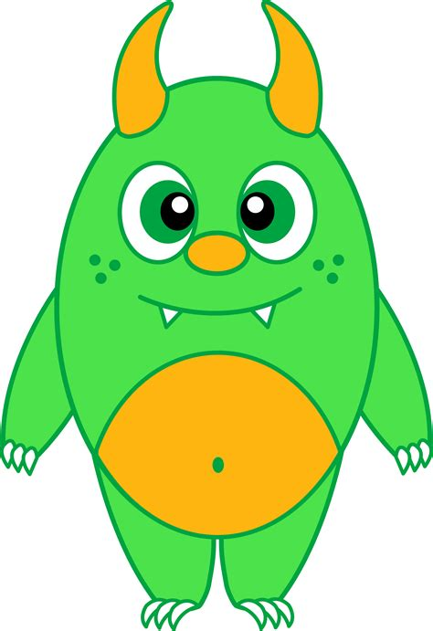 silly green monster free clip art