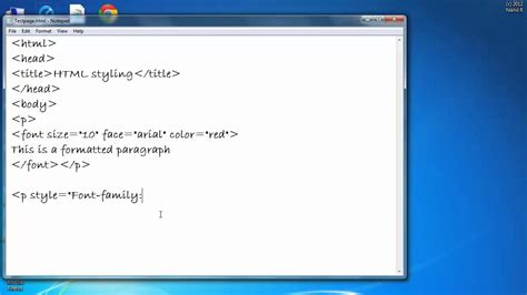 change color font size text html youtube