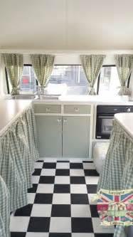 vintage caravan bespoke built soft catering interior floor