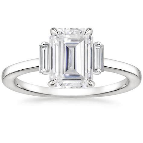 moissanite piper diamond ring platinum