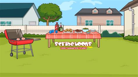 scribetoons video store animated backyard cookout youtube