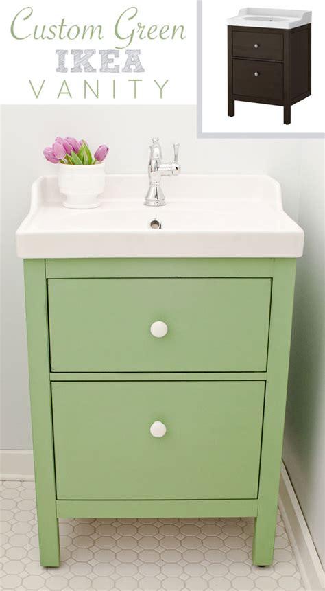 green ikea custom bathroom vanity golden sycamore