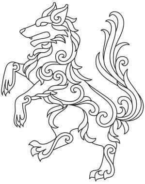 gilded heraldry wolf image patterns pinterest