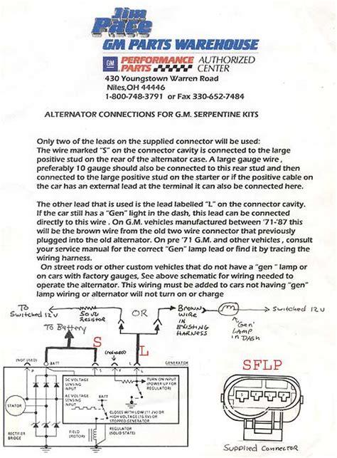 ls1 alternator connector wiring question ls1tech