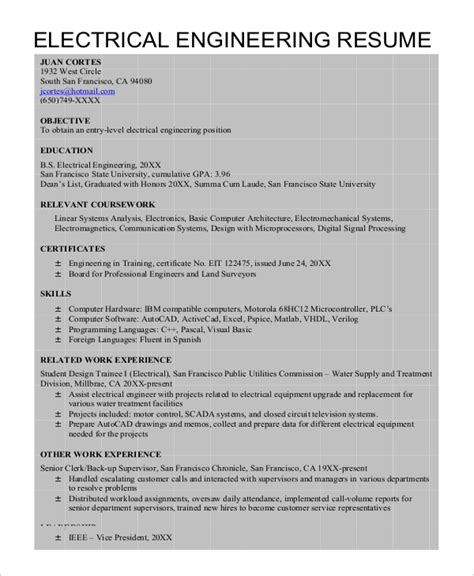autocad resume template 8 free word document downloads