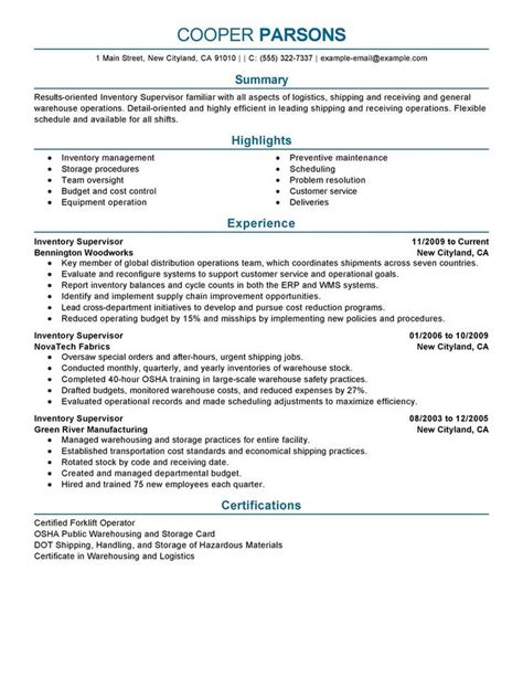 resume exles supervisor good resume exles resume writing