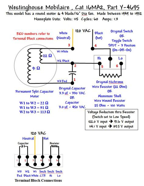 westinghouse mobilaire wiring diagram