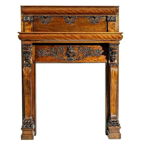 magnificent antique carved fireplace mantel sale