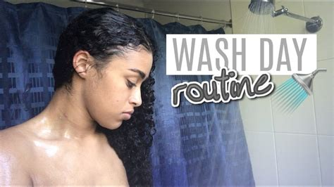 curly hair wash day routine super fast simple