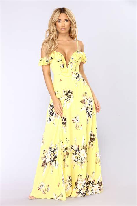 newport beach floral dress yellow