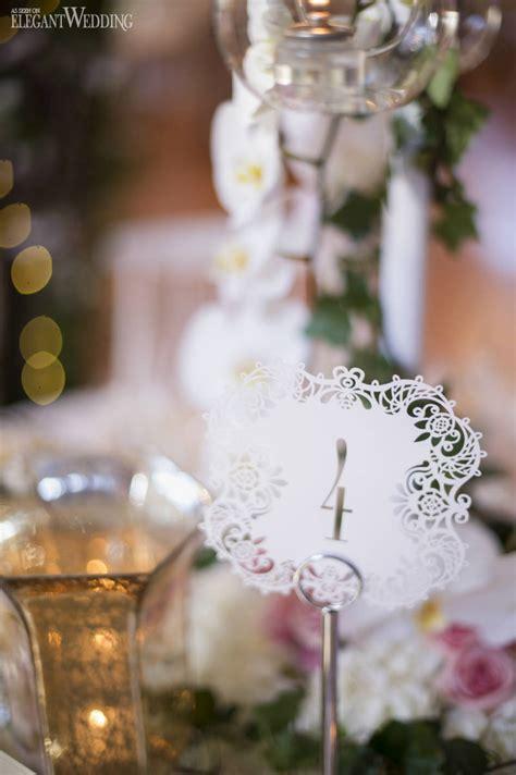 luxurious garden wedding pink accents elegantwedding