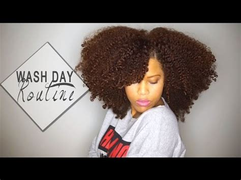 wash day routine long natural hair youtube