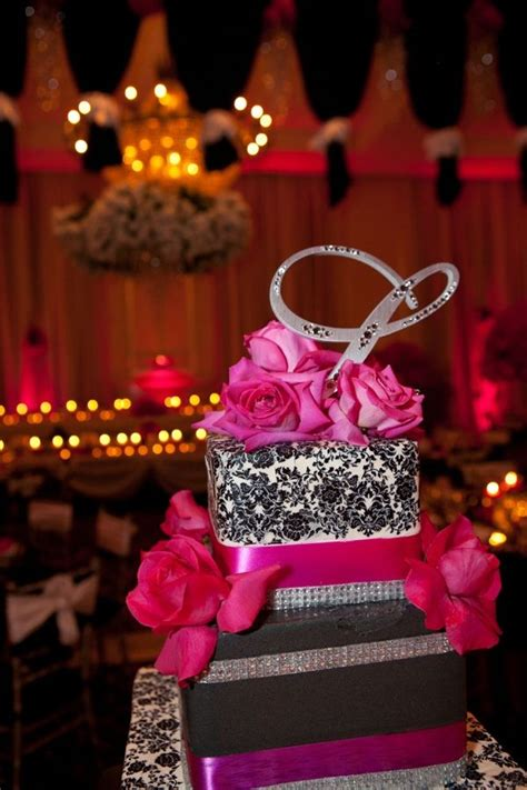 amazing fuschia black silver wedding black wedding cakes