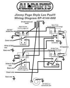 wiring kit gibbson jimmy page les paul complete