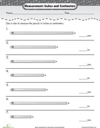 measurement mania centimeters inches worksheets math math measurement