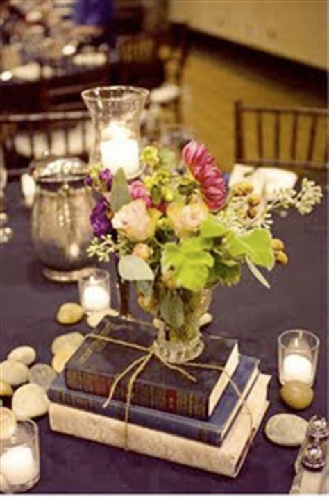 booklicious bookish wedding centerpieces