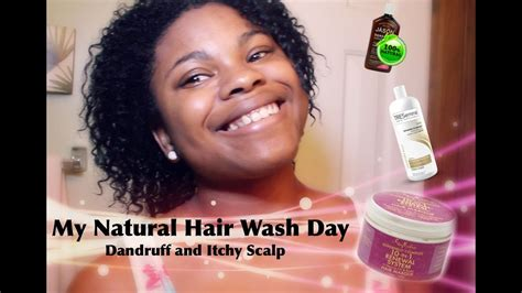 natural hair wash day routine dandruff itchy scalp