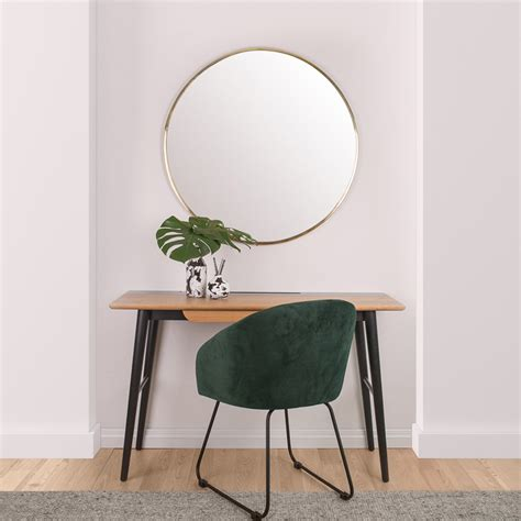 large brass wall mirror 90cm trend