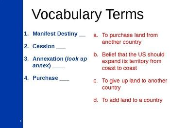 manifest destiny map worksheet presenation bryan korzens lessons